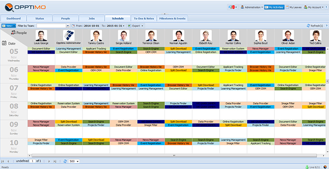 Schedule View - Scheduling staff creates an order and flow to your business
