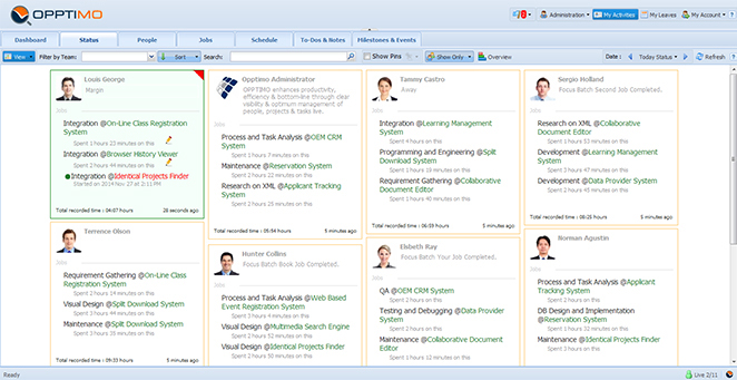 Status View - Get a holistic view of what your team does